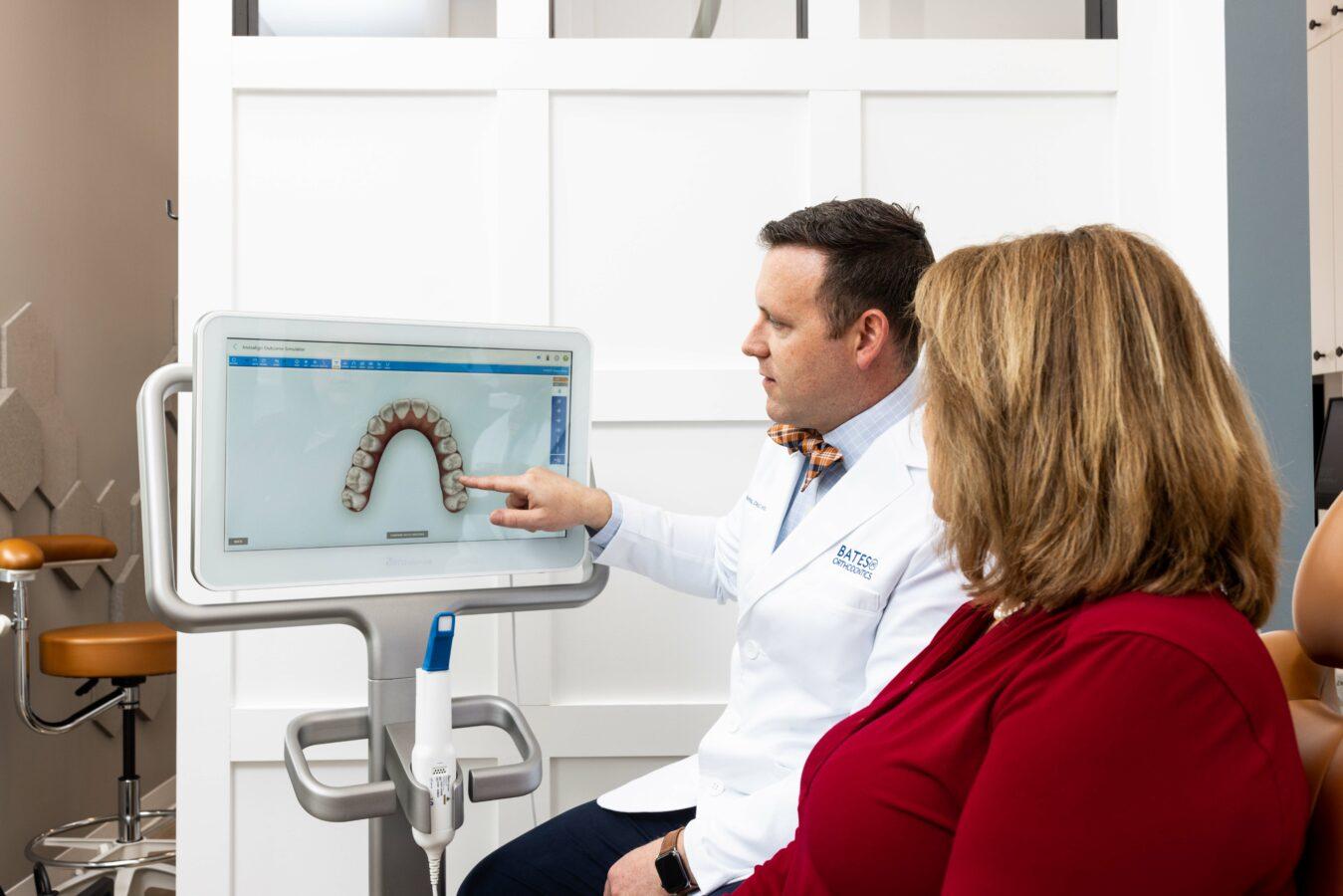 Bates Orthodontics Staff with Patient