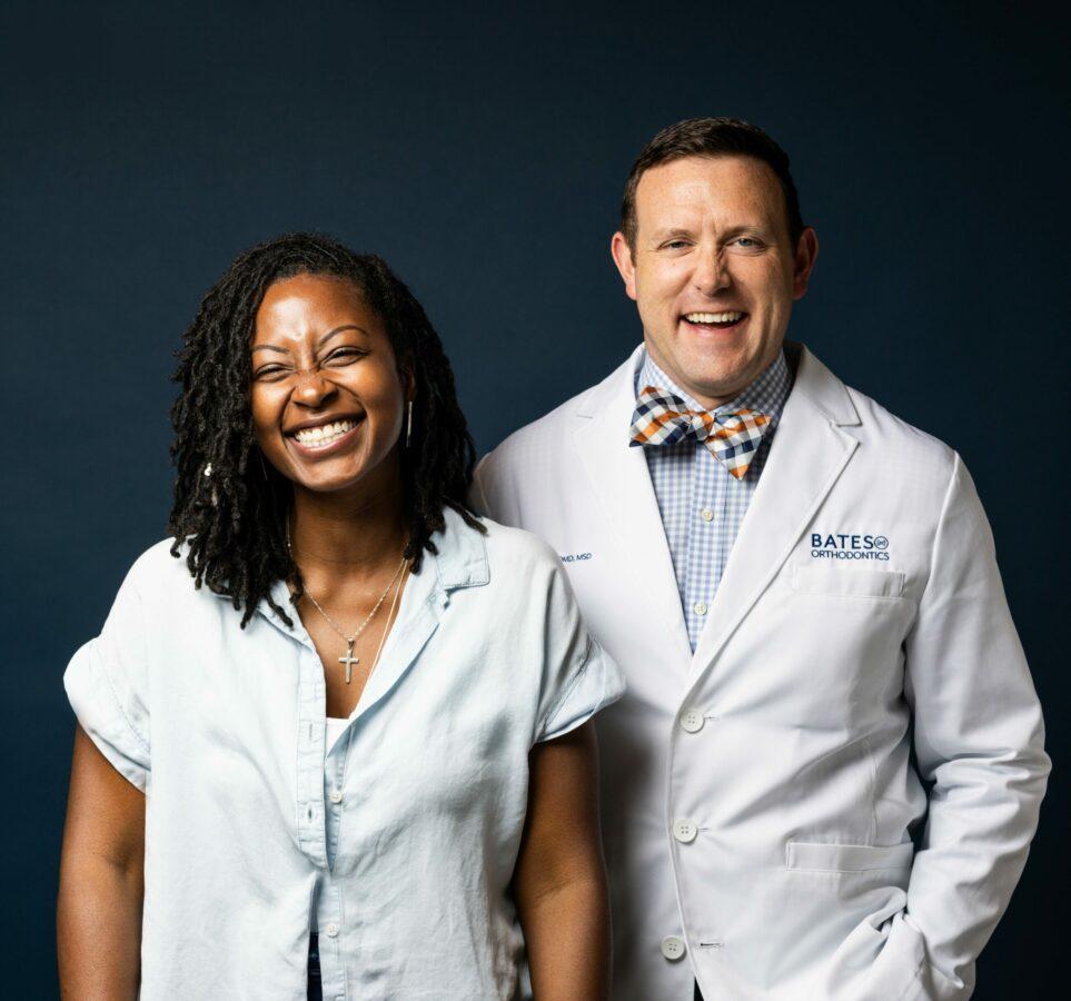 Dr. Sheldon Bates with Invisalign Patient
